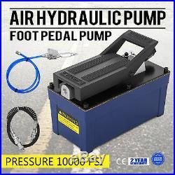Air Powered Hydraulic Pump 10,000 PSI Pack Foot Auto Repair 103 in3 Cap