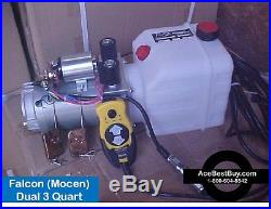 D1 Hydraulic 12 volt dual acting Power Down Pump wired & 2 WIRELESS Remotes