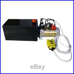 DC12V 10-Quart High Flow Power Up Grav Dn Hydraulic Pump Power Unit Dump Trailer