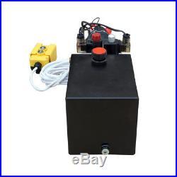 DC12V Volt 6 Quart Double Acting Hydraulic Pump Power Supply Unit Pack Lift