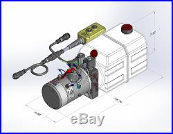 Double Acting Hydraulic 12V Power Unit