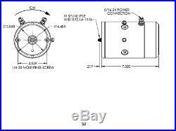 Double Acting Power Unit 12 Volt DC replacement, (2) TERMINAL, KTI MOTOR