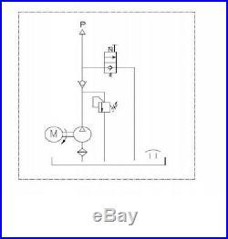 Dump Trailer Hydraulic Power Unit 12V 2 KW SIngle Action Remote 12 Quart PUMP