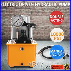 Electric Hydraulic Pump Power Pack 2 Stage Double Acting 120v 10k PSI 488in3 Cap