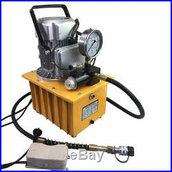 Electric Hydraulic Pump Power Pack 2 Stage Pedal Solenoid Valve 10000PSI 63MPa