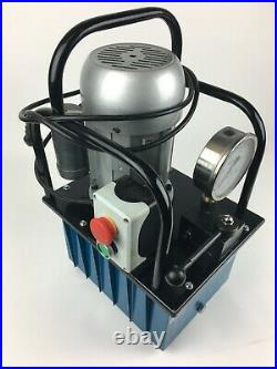 Electric Hydraulic Pump Power Pack 2 Stage Single Acting 110v 10k PSI 488in3 Cap