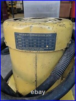 Enerpac hydraulic power unit 4 way jack setup