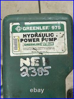 GREENLEE 975 10,000-PSI 120VAC Hydraulic Power Pump with Remote 980 960 #7153-A