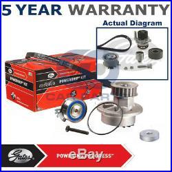 Gates Timing Cam Belt Water Pump Kit For Audi Seat Skoda VW Tensioner KP25607XS1