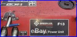 Greenlee F13 portable hydraulic power unit