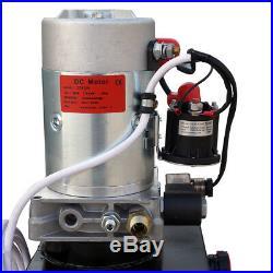 Heavy Duty 12V 8 Quart Hydraulic Pump Power Unit Single Acting 3200 PSI 2.0 GPM