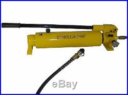 Hydraulic Hand Pump 2 speed Power Pack Hose Coupler (10000 psi 165 in3) B-700A