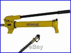 Hydraulic Hand Pump 2 speed Power Pack Hose Coupler (10000 psi 43 in3) B-700