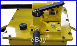 Hydraulic Hand Pump 2 speed Power Pack Hose Coupler (10000 psi 458 in3) B-7000