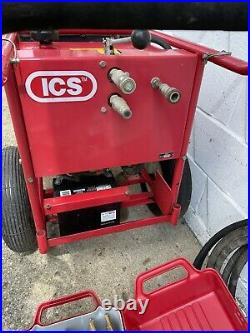 Hydraulic ICS Concrete Chainsaw And Power Pump Set With Extra Chains Bar 16