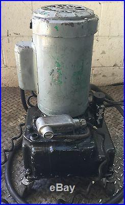 Hydraulic Power Pump 1-1/2 HP 115v Industrial Press Bend