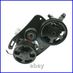 Hydraulic Power Steering Conversion Swap Kit Ford Coyote 5.0L Black Type II Pump