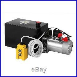 Hydraulic Power Unit 15 Quart Double Acting Hydraulic Pump Unit 12V Steel Tank
