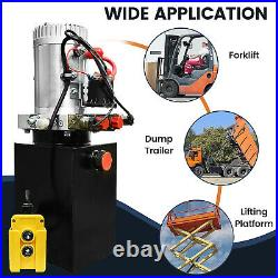 Hydraulic Power Unit Double Acting 12V DC Dump Car Trailer 6 Quart With Remote