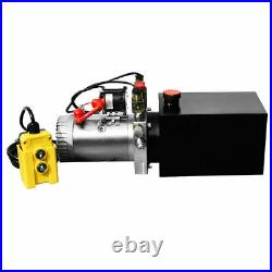 Hydraulic Power Unit Double Acting 12V DC Dump Trailer 6 Quart with Remote