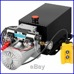 Hydraulic Power Unit Double Acting with Pressure Gauge Hydraulic Pump 10 Quart