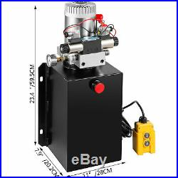 Hydraulic Power Unit Double Acting with Pressure Gauge Hydraulic Pump 15 Quart