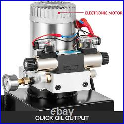 Hydraulic Power Unit Double Acting with Pressure Gauge Hydraulic Pump 16 Quart