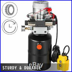 Hydraulic Power Unit Double Acting with Pressure Gauge Hydraulic Pump 6 Quart