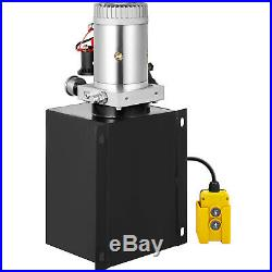 Hydraulic Power Unit Double Acting with Pressure Gauge Hydraulic Pump 8 Quart