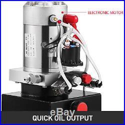 Hydraulic Pump Double Acting 10 Quart Reservoir Metal Tank 12V Pack Power Unit