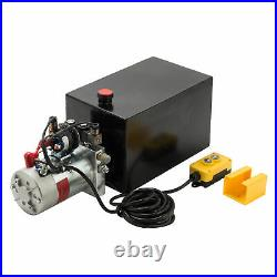 Hydraulic Pump Double Acting 15 Quart Reservoir Metal Tank 12V Pack Power Unit