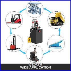 Hydraulic Pump Hydraulic Power Unit Double Acting 15 Quart 12V Metal Reservoir
