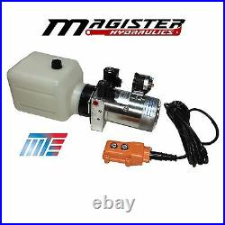 Hydraulic Pump Power Unit Double Acting 12V DC Dump Trailer 10 Quart with Remote