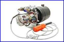 Hydraulic Pump Power Unit Double Acting 12V DC Dump Trailer 6 Quart with Remote