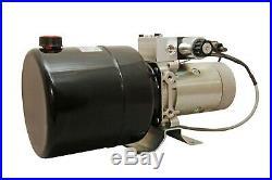 Hydraulic Pump Power Unit Double Acting 12V DC Dump Trailer 6 Quart with Remote