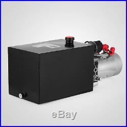 Hydraulic Pump Single Acting 12 Quart Reservoir Metal Tank 12V Pack Power Unit