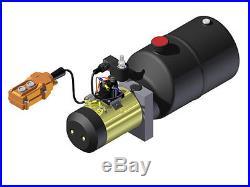 Hydraulic Supply Pump Unit 12V DC Power Up & Down 6 quart Steel Tank 2500psi NEW