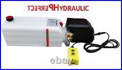 Hydraulic power unit 12 V 180 bar 2000W truck, tipper, trailer 11L pump dumper