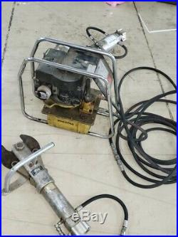 Jaws of Life Rescue tools lot with gas powered Hydraulic Pump