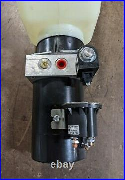 MTE Hydraulic Power Unit 12VDC, Single Acting, 2 Gal Poly Res, 2500 PSI Relief