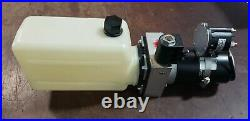 MTE Hydraulic Power Unit 12 VDC, Single Acting, 1.6 Qt Poly Tank
