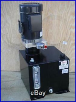 New Monarch Bucher M-4505-0150 1 hp 115/230V 1500 psi 1 gpm Hydraulic Power Unit