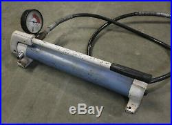 OTC Power Twin 17-1/2 Ton Hydraulic Cylinder Ram & Y21-1 Model C Hand Pump