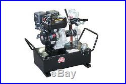 PHP Electric Start Gas Power Portable Hydraulic Pump System 10 gal 4gpm 2300psi