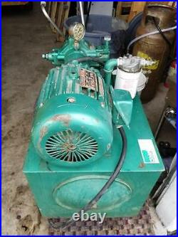 Pearse Fluid Power Hydraulic Pump 5hp 230v 3ph with oil filter works good