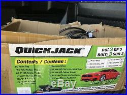 Portable Quick Jack Power Unit Hydraulic Pump Hoses And Block Kit Car Lift 110v