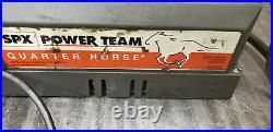 Power Team PE104 Quarter Horse 10K Single/Double Hydraulic Pump 3-Pos 4-way 115V