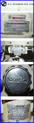 Rexroth 3-Ph 208-230V Hydraulic Pump Power Unit Uchida-Hydromatik-A10V16DR1RP1