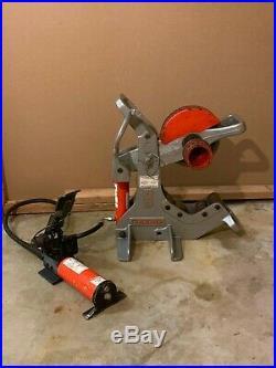 Ridgid 258 Hydraulic Pipe Cutter 2-1/2-8 Power Drive with Pump rigid 300 700