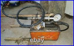 SPX OTC POWER TEAM P460 HYDRAULIC HAND PUMP pressure gauge 700 BAR/ 10,000 PSI